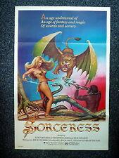 SORCERESS Original 1980s Fantasy OS Movie Poster Gothic Art Sexy Lynette Harris