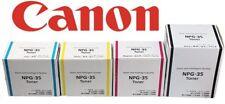 4 x Canon Genuine NPG-35 Black/Cyan/Magenta/Yellow Toner Cartridge Ink FULL SET