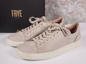 Frye - Leather Lace Up Sneakers - Ivy Low Lace - Taupe - 8 M