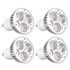 4 pezzi GU10 3W 3LED dimmerabile bianco caldo ad alta potenza faretti LED S I8N5
