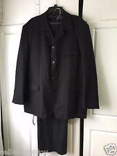 Alberto Celini Mens Suit Jacket Pants Black color size 46R 40R Tall Big