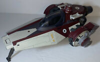 2007 Hasbro Star Wars Clone Wars LFL V-Wing Fighter Ship Missing Parts But Clean