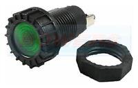 GREEN CLASSIC CAR DASH BOARD PANEL WARNING LIGHT LAMP 12V 18MM HOLE