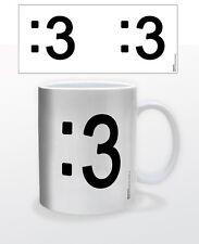 EMOTICON CAT FACE 11 OZ COFFEE MUG TEA CUP PC MAC KEYBOARD IPHONE FACES SMILEY!!