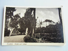 AK DÜRNHOLZ (Drnholec) 1943, Brücke mit Schloß. RAR! (Verlag Krebs, Foto Krpata)