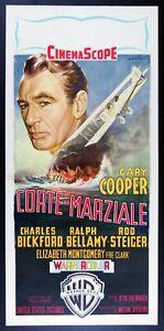locandina film CORTE MARZIALE Gary Cooper Otto Preminger art by Alfredo Capitani