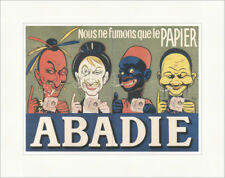 Abadie Cigarette papers 1904 Eugene Oge Raucher Kunstdruck Plakatwelt 963