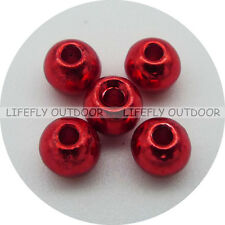 Red Color, 100 Tungsten Beads, 2.3mm 2.7mm 3.2mm 3.8mm Assortment, Fly Tying