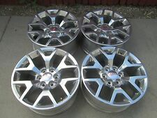 "20"" GMC chevy 1500 Sierra Yukon DENALI Factory POLISHED OEM  Wheels Rims"