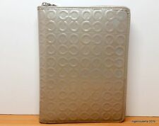 COACH Julia Grey Signature Patent Leather 6x8 Agenda Planner