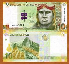 Peru, 10 Nuevo Soles, 2013, P-187, UNC