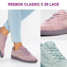 Womens Reebok Classics WMN Club C 85 Lace Suede Low Top Sneakers NEW