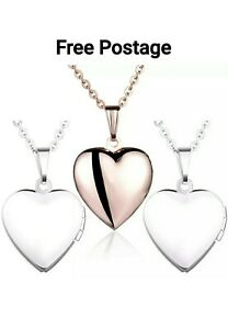 Yumilok 3PCs Stainless Steel Pink, Blue Open Heart Photo Locket Memory Picture