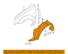 HYUNDAI OEM 06-11 Accent-Front Fender Liner Splash Shield Right 868121E000