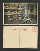 1920s THE LOBBY OLD FAITHFUL INN YELLOWSTONE PARK POSTCARD
