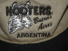 Hooters Buenos Aires Argentina Ball Cap Embroidered Tan Twill with Black Bill