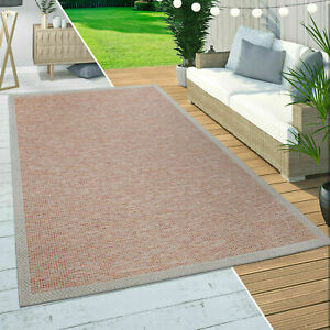 Modern Outdoor Rugs Red Solid Patio Kitchen Rug Flat Braided Terrace Large Mats