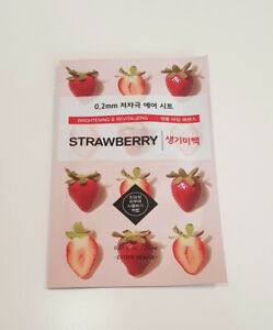 Korean face mask sheet Etude house (UK SELLER) Strawberry 0.2mm