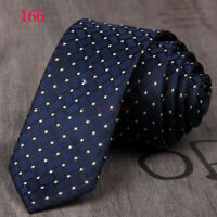 New Blue White Spot Dot Casual Slim Narrow Mens Tie UK Seller Father Suit Gift