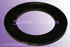 52mm A 77mm Macho-hembra Stepping intensificar filtro anillo adaptador 52mm-77mm Reino Unido