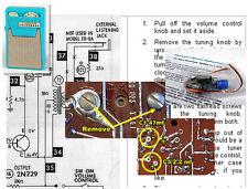 Universal (Tokyo) PTR-62B & variants Electrolytic Capacitor Recap Kit