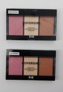 CoverGirl Trublend Serving Sculpt Palette 510 Rose Nights Highlight Lot of 2 New