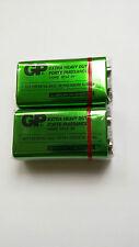 2 NEW GP 9V 6F22 1604G Extra Heavy Duty Battery - Free Shipping Worldwide