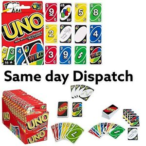 UNO card Game with WILD CARDS Latest version Great Family Fun UK SELLER