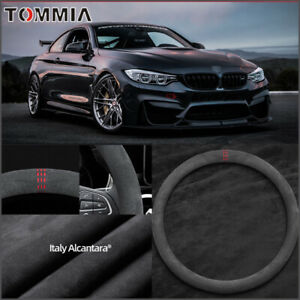 "O Type 15"" Non-slip Black Alcantara Suede Car Steering Wheel Cover For BMW M4"