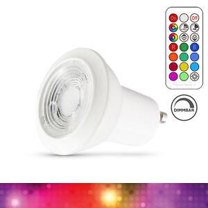 GU10 LED Spot RGB Farbwechsel mit IR Fernbedienung, 3W Dimmbar + Memory Funktion