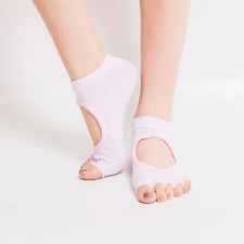 New Gym Sports Yoga Socks Non-Slip Full&Half Toe Pilates Ankle Grip Cotton Socks