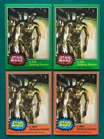 "1977 Topps OPC Star Wars C-3PO ""Golden Rod"" Error & Corrected REPRINT Cards MINT"