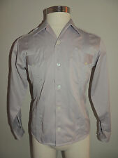 MENS GENUINA YUCATECA GRAY NYLON BLEND ALFORZAS LONG SLEEVE SHIRT SIZE 38