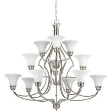 Progress Lighting Applause Collection 12-Light Brushed Nickel Chandelier