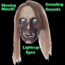 New Animated UNDEAD CATHY SEVERED FEMALE ZOMBIE HUMAN HEAD Halloween Horror Prop