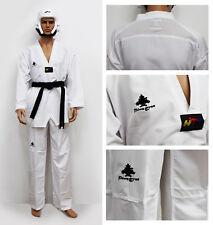 Taekwondo Suit Ultra Light From Pine Tree Polyester Fighter Dobok White V-Neck