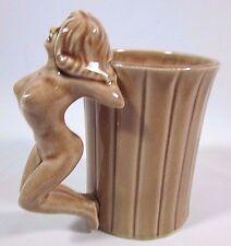 SHAFFORD Naked Nude Woman Mug Tea Cup Handle Pin-Up Vintage Mid Century Vulgar
