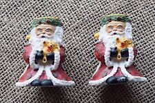 Set of 2 Christmas Santa Claus Candle Holders