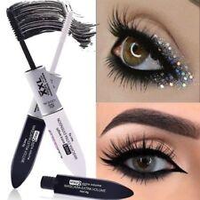 2 IN 1 Mascara Silk Fiber Eyelash Volume Extension Waterproof Makeup Cosmetic