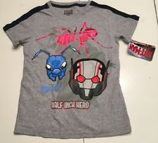 MARVEL ANT-MAN Boys T-SHIRT WHITE size 5-6 years new with tag #37