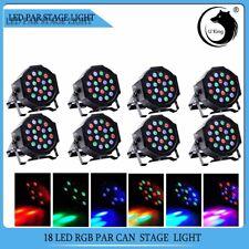 8PCS Bühnenlicht 54W RGB 18LED Par CAN DMX 7CH Disco Pub Party Stage Lichteffekt
