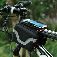 Bike Front Tube Bag Bicycle Frame Pouch 5.5'' Phone Mobile Cycling Accessories