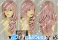 Hot! Final Fantasy Lightning Srah New Long Mix Pink Cosplay Wigs/wig