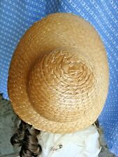 """Vintage straw Doll Hats 8"""" W , 4"""" W inside ready for dolls, bears other"""
