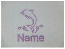 DOLPHIN design Embroidered onto an Adult Robe with Name of Choice Personalised