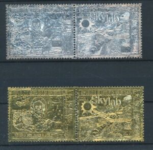 [30962] Mauritania Space Good Silver and gold set Very Fine MNH stamps