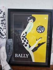 *TO CLEAR* XL Designer Retro Vintage Bally Framed Print