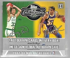 2007-08 Topps Co-Signers Factory Sealed Box  2 Autograph cards per box 1 Co-Sign