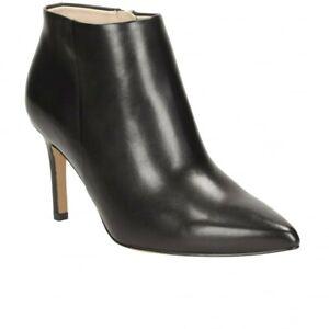 Clarks Dinah Pixie Black Leather ladies ankle boots Size UK 5.5/39 New D £90