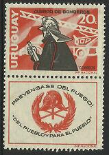 URUGUAY 1966 FIREMAN 1v + TAB MNH